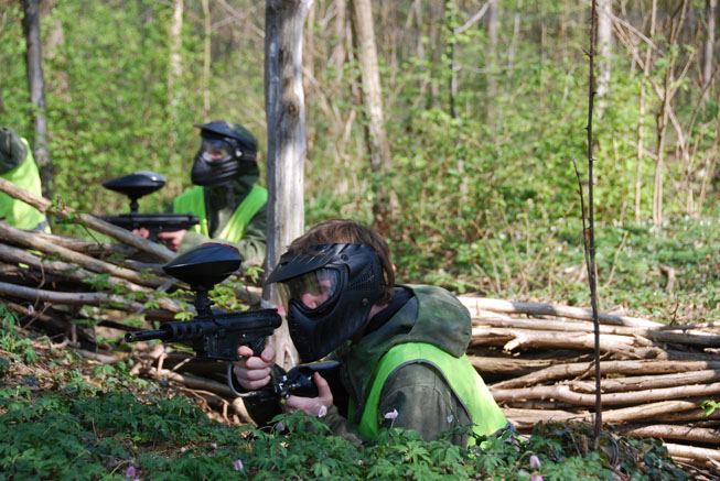 paintball foret